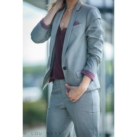 Veste tailleur fil à fil