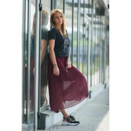 Jupe longue plissée femme