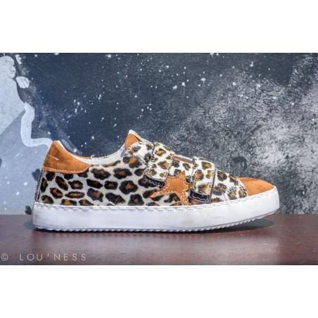 Baskets imprimé léopard